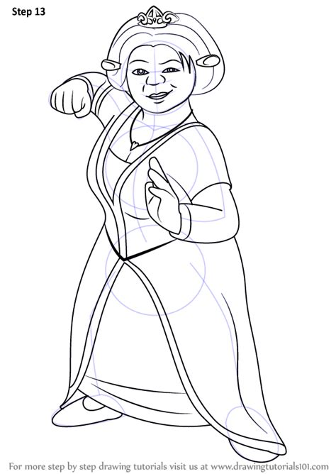 Learn How To Draw Princess Fiona From Shrek Shrek Step Princess Fiona Coloring Pages Free Coloring Sheets