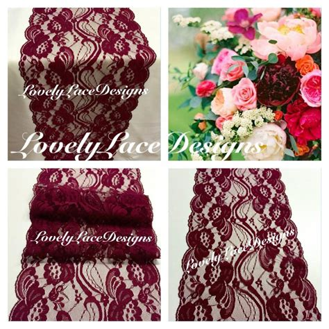 20 wide table runner burgundy wine lace table runner 12ft 20ft x 7 quot wide