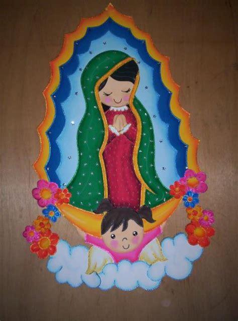 Imagen Virgen Maria En Foamy | moldes de virgen de guadalupe en foami imagui