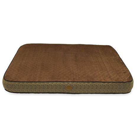 orthopedic dog bed large k h pet products superior orthopedic large mocha paw bone