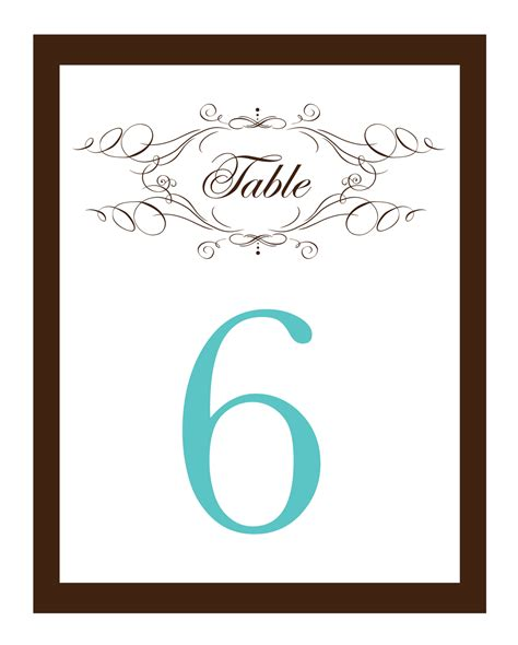 printable table number cards template my road to the altar do it yourself wedding invitations