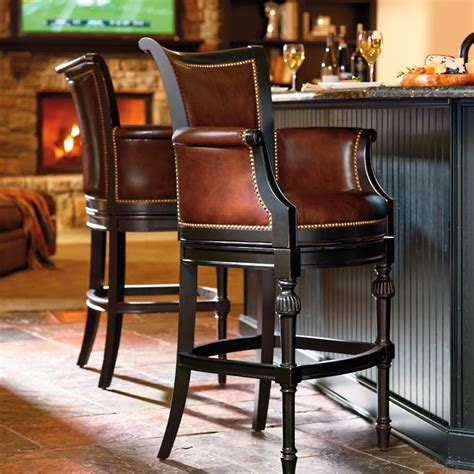 Chesterfield Leather Bar Stools by Chesterfield Swivel Bar And Counter Stools Frontgate