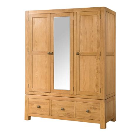 Wardrobe And Drawers by Wardrobe With Three Drawers Countryside Pine And Oak