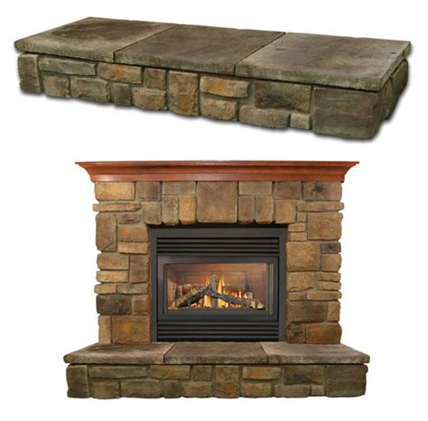 Raised Hearth Fireplaces by Elk Ridge Fireplace Mantel Vertical Dimension