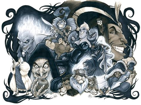disney villains by adamwithers on deviantart