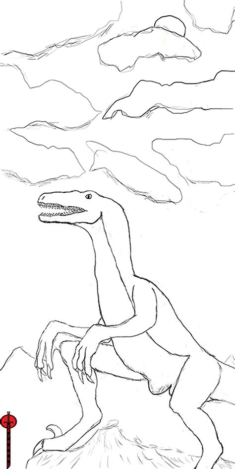 free coloring pages of 2 raptor