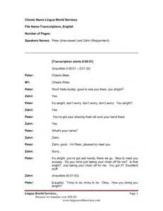 Transcription Format Template by Resume Template Transcriptionist Bestsellerbookdb