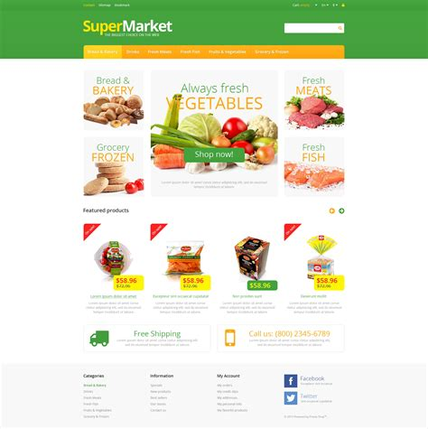 layout supermarket ppt powerpoint templates grocery theme images powerpoint