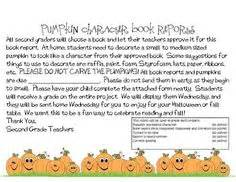 pumpkin book report template paper bag book report product from ms lyric on