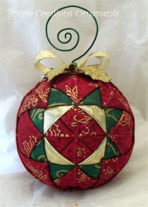 Patchwork Ornaments - quilted ornament sparkling patchwork