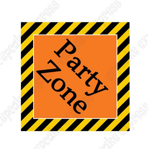 Construction Zone Printable Party Zone Sign Diy Free Construction Sign Templates