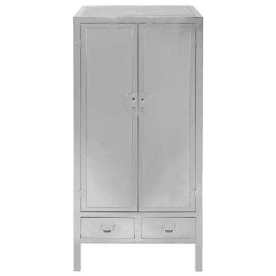 steel armoire kingsley stainless steel silver armoire
