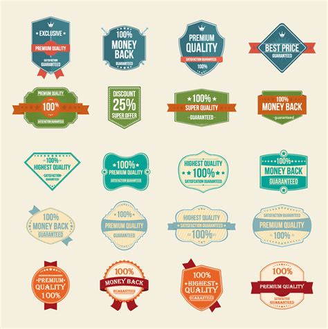 vector free 100 free vector vintage badges stickers sts in ai