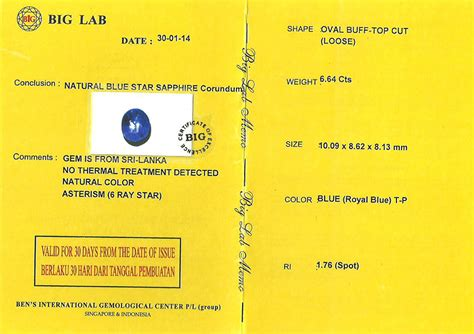 8 1 Ct Sapphire Safir Memo royal blue safir no heat sps 206