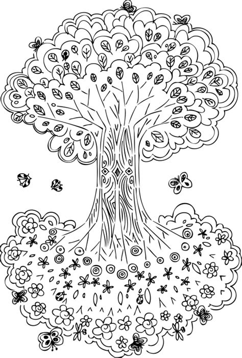 free coloring pages of gustav klimt tree of life