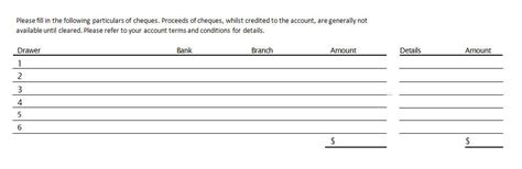 bank deposit form template source documents the bank deposit slip