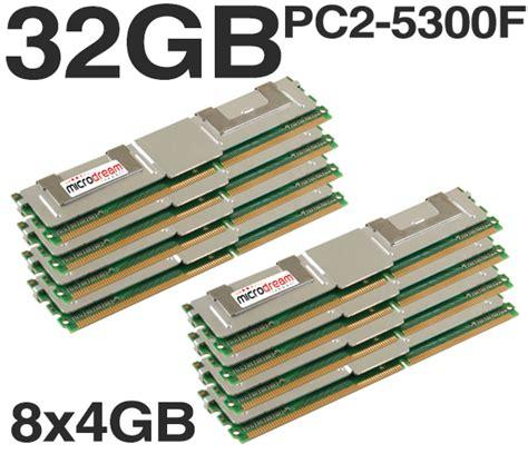 32gb 8x4gb ddr2 pc2 5300f 667mhz ecc fully buffered server memory ram hp dell ebay