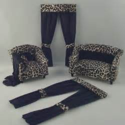 leopard print living room furniture and drapes