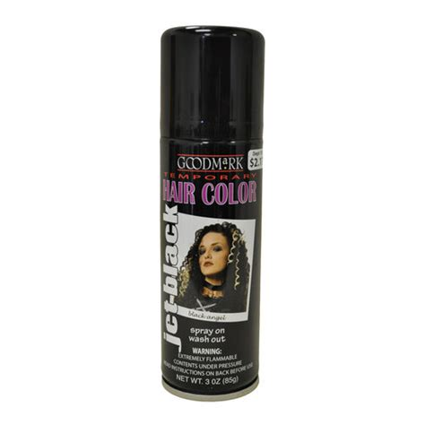 temporary hair color for black hair goodmark temporary hair color spray black pretend play