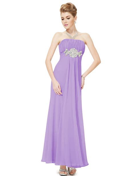 strapless light purple rhinestones ruffles chiffon bridesmaid dress pretty wholesale