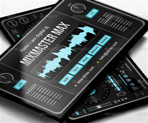 Digital Dj Business Card Template Free by 32 Dj Business Card Templates Free