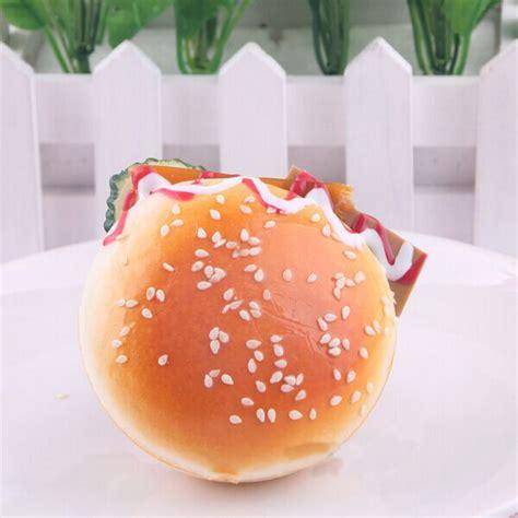 Mainan Squishy Magnit Tipe 4 Bread 7 5cm Random Squishy Simulation Hamburger Bread Fridge