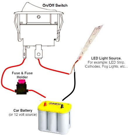 12 volt on toggle switch wiring diagram wiring
