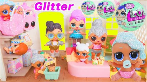 Egg Dolls Lol Anniversary Edition Glitter Serie don t shimmer and shine lol dolls bedtime routine glitter series