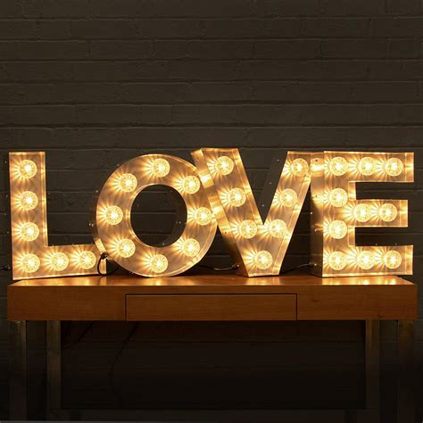 Love Light Up Fairground Bulb Sign By Goodwin Goodwin Light Up Sign