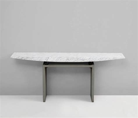 Concrete Console Table Concrete Console Table With Marble Top By Danilo Silvestrin At 1stdibs