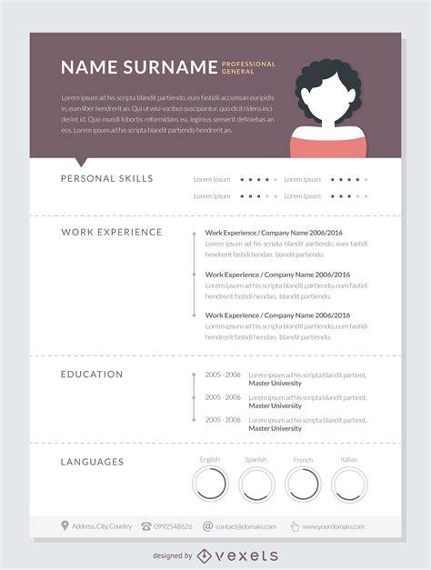 professional curriculum mockup template vector