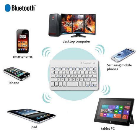 Keyboard Bluetooth Untuk Pc bluetooth keyboard nirkabel untuk apple mac macbook pc putih lazada indonesia
