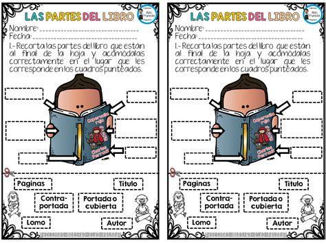 dibujo de las partes de un libro para niños partes del libro imagenes educativas