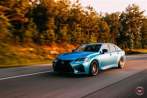 lexus wrapped lexus gs f goes aggressive with vossen wheels forcegt com