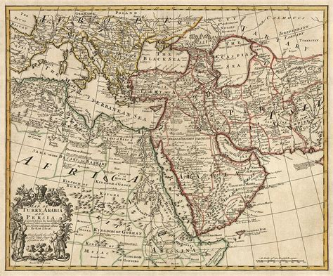 middle east map drawing antique map of the middle east by guillaume delisle 1721