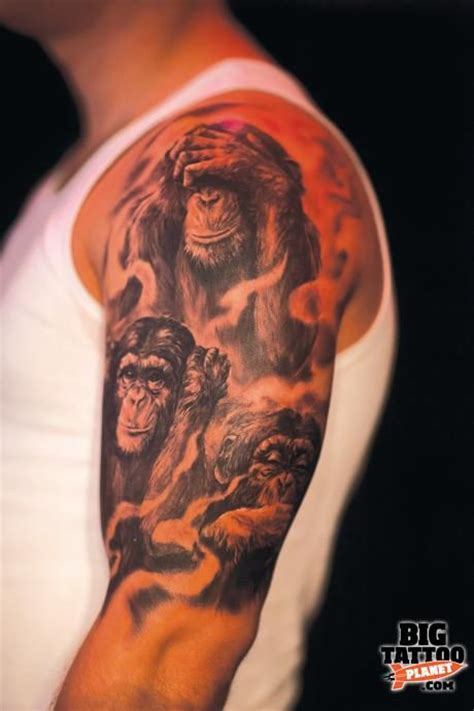 evil monkey tattoo designs three wise monkeys designs search