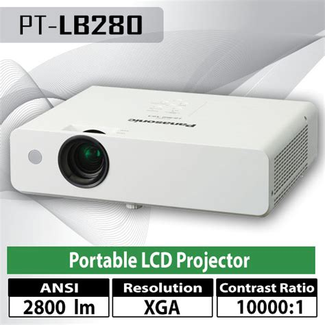 Proyektor Panasonic Pt Lb280 jual layar proyektor projector lcd pemasangan instalasi service