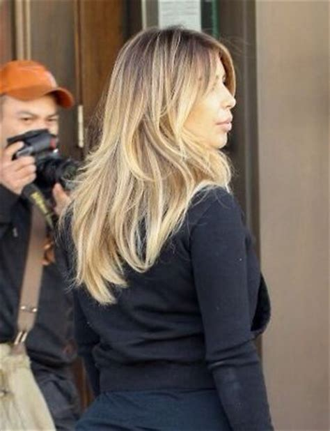kim kardashian blonde balayage highlights photos 92 best subtle balayage ombre medium length hair images