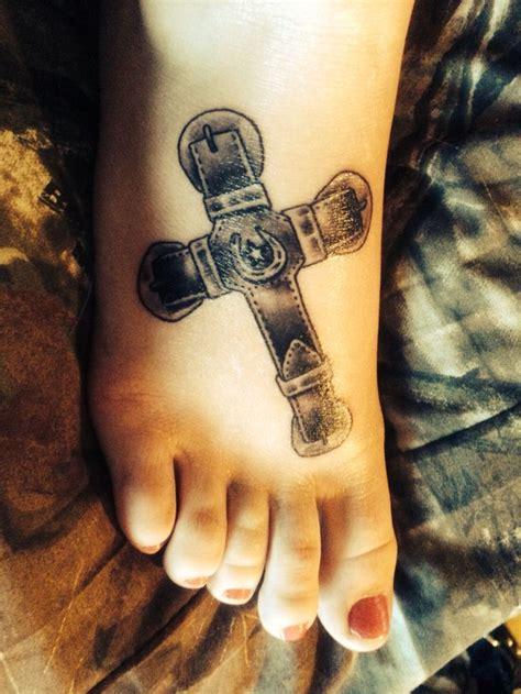 horseshoe cross tattoo belt buckle horseshoe cross other