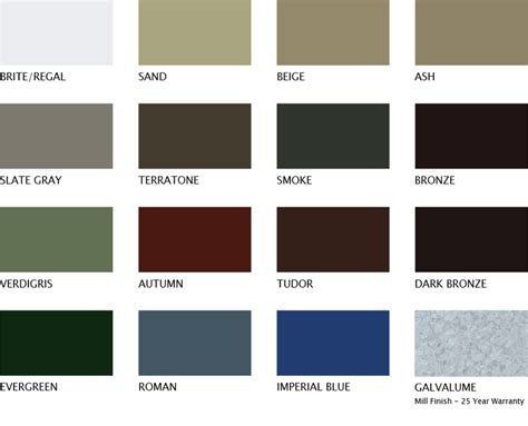 what do colors colors steelsoffit steel soffit materials ultra steel soffit