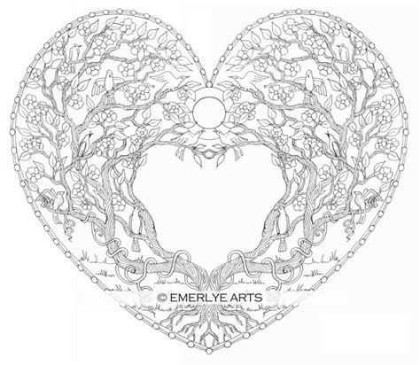 coloring pages for adults heart cynthia emerlye vermont artist and life coach love tree