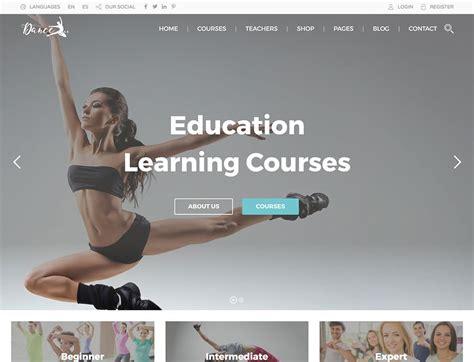 education theme dance 7 best wordpress themes for dance studios 2018 athemes