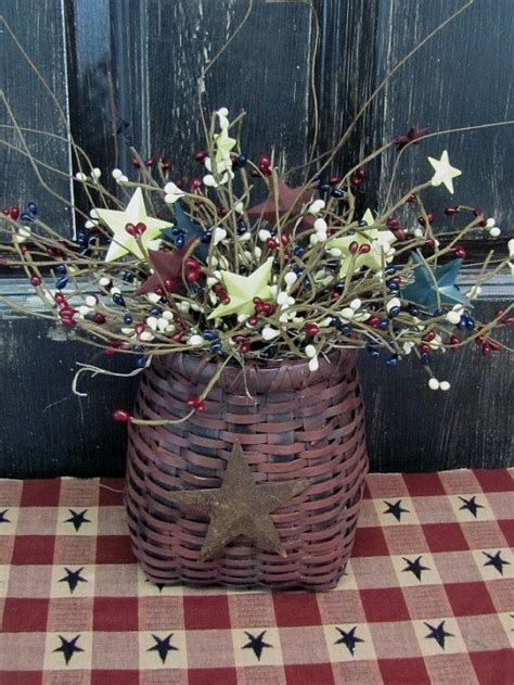 primitive basket  americana pip berries country home