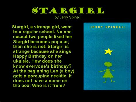 Essay On Stargirl Book Review by Book Review 1