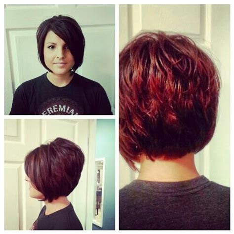 a line shortstack bob hairstyle for women over 50 short stacked bob a line my work pinterest short
