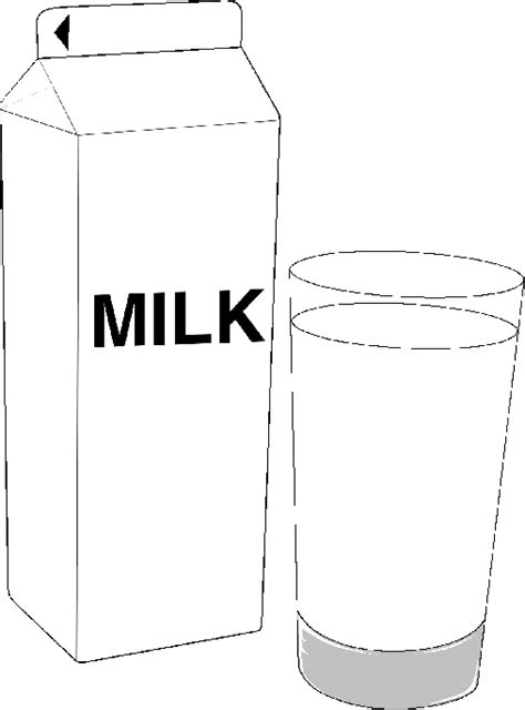 Pint Of Milk Pages Coloring Pages Pint Template