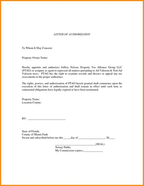authorization letter template for business template authorization letter template for business