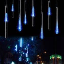 30cm 8 falling rain drop icicle snow fall string led xmas