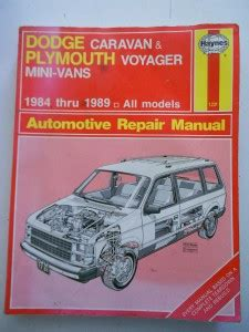 auto manual repair 2011 dodge caravan auto manual haynes auto repair manual 1231 dodge caravan plymouth voyager mini vans 84 89 ebay
