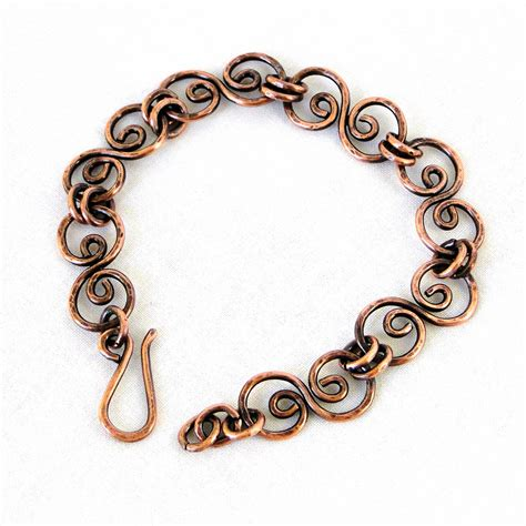Handcrafted Copper Jewelry - handcrafted jewelry hammered copper bracelet antiqued